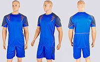 Футбольная форма Captain CO-1004-B (PL, р-р M-XXL, синий-черный, шорты синие)