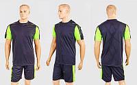 Футбольная форма Height CO-1014-BK (PL, р-р M-XXL, черный-салатовый, шорты черные)
