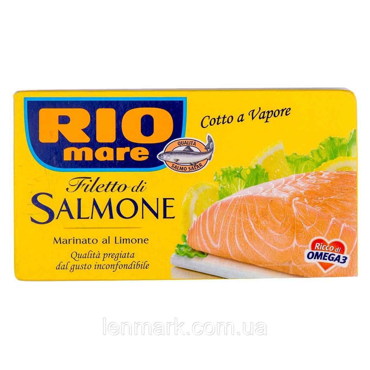 Филе лосося маринованное  с лимоном Rio mare Filetto di salmone Marinato al Limone 150г