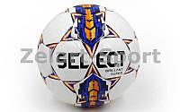 Мяч футбольный №5 PU ламин. ST BRILLANT SUPER ST-3-DX белый-синий-оранжевый (№5, 5 сл., сшит вручную