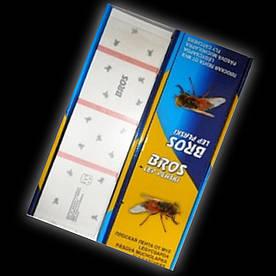 Брос Bros офисная липкая лента средство от мух (лист)(ЮрР18004)