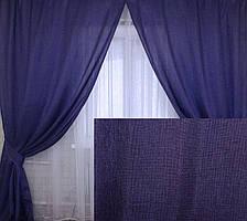 """Комплект готовых штор коллекция """"Лен Мешковина"""" Цвет фиолетовый, код 105ш"""