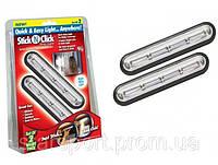 Портативные светильники Stick N Click Strip Light (набор 2 штуки)