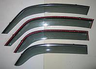 Дефлекторы окон ветровики на SUZUKI Сузуки SX-4 с молдингом нержавеющей стали