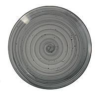 Тарелка плоская 230 мм без борта (Farn) 9044 Графити