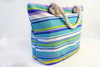 Пляжная сумка Бали в цветные полоски