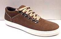 Слипоны-кеды мужские Cuddos нубук натуральная на шнуровке Cu0014