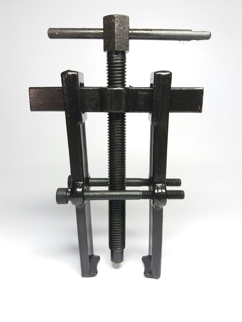 Съемник подшипников двухлапый черный с двумя прижимными винтами 70х120