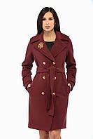 Женское пальто ПВ-13 Бордо