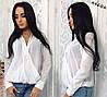 Женская шифоновая блузка с вырезом №3