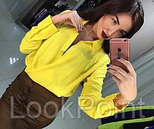 Женская шифоновая блузка с вырезом №3, фото 2