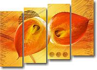 "Модульная картина ""Цветы каллы""  (900х1260 мм)  [4 модуля]"