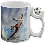 Чашка с Вашим дизайном керамическая с футбольным мячом, фото 2