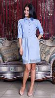 Нежное платье для девушки Катя 7104 -4 пудра