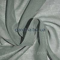Тюль гардины лен французкий серый