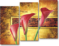"Модульная картина ""Осенние каллы""  (1130х860 мм)  [3 модуля]"