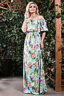 Модное платье женское в пол в 4х цветах SV 1407-1410