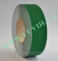 Противоскользящая лента для ступеней и полов зеленая 50 мм.