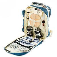 Сумка- рюкзак  для пикника с посудой Mimir на 4 персоны