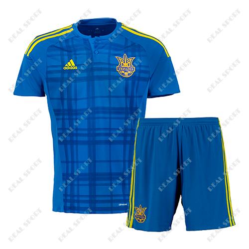 Футбольная форма сборной Украины гостевая синяя 2017
