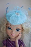 Шляпка - вуалетка детская