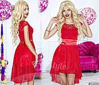 Асимметричное гипюровое платье