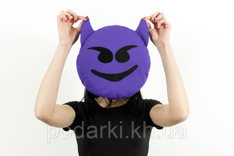 Подушка emoji Чертенок