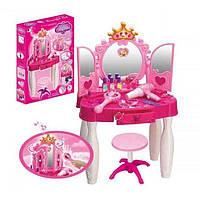 Детский туалетный столик для девочки 661-20, р/у, волшебная палочка, стульчик, свет, MP3, аксессуары