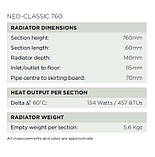 Классический чугунный радиатор на ножках NEO-CLASSIC 760 от компании Arroll, фото 5