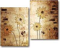 "Модульная картина ""Цветы  и клевер""  (650х820 мм)  [2 модуля]"