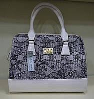 Женская сумка летняя , принт серебро