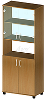 Шкаф файловый с нишей и стеклом