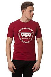 Стильная  мужская футболка  с надписью реплика Levi's