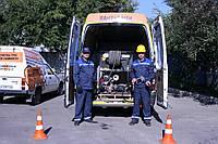 Гидродинамическая прочистка, промывка, труб, очистка канализации