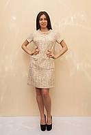 Женское платье в стиле Шанель с коротким рукавом