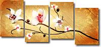"Картина модульная ""Семь белых орхидей""  (670х1460 мм)  [4 модуля]"