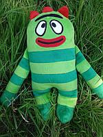 Мягкая игрушка - подушка Зеленый монстр Броби (Brobee) Йо Габба Габба, ручная работа
