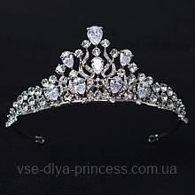 Корона, діадема, тіара в сріблі, висота 5 див.
