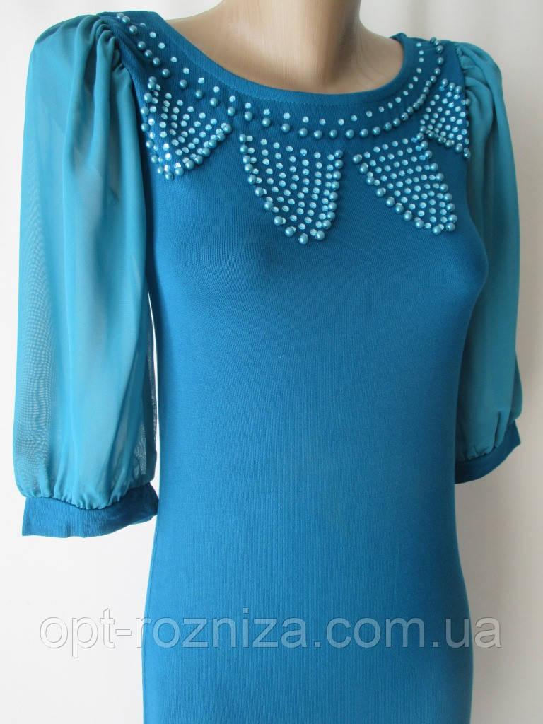 Нарядные платья с шифоновым рукавом