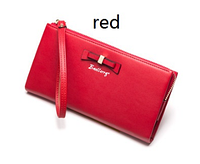 Красный женский стильный удобный кожаный кошелек клатч Baellerry Новинка