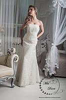 Свадебное платье рыбка бежевое (айвори) гипюровое