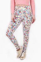 Женские брюки летние Цветы, цветочные брюки женские