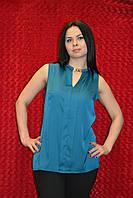 Офисная блузка без рукавов