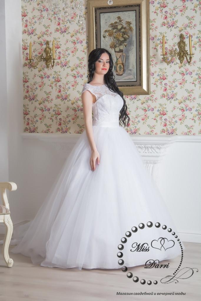 Платье свадебное белое пышное со шлейфом