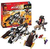 """Конструктор Bela аналог LEGO Ninjago 70595 """"Внедорожник с суперсистемой маскировки"""" 1135 дет. 48.2x37.8x9.4см."""