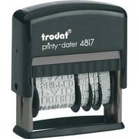 Датер с 12-ю бухгалтерскими терминами 3,8мм пластмассовый 4817 TRODAT