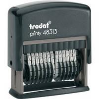 Мининумератор 3,8 мм пластмассовый 13-ти разрядный 48313 TRODAT