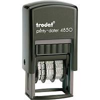 Минидатер со свободным полем пластмассовый 25х5мм 4850 TRODAT
