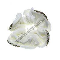Резинка для волос бархатная с камнями чешское стекло, 1 штука