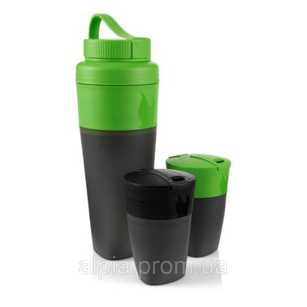 Набор стаканов и фляга Light My Fire Pack-up-Drink Kit gr/bl (LMF 50694740)